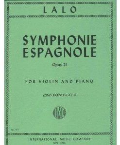 Lalo Edouard Symphonie Espagnole, Op. 21 - Violin and Piano - by Zino Francescatti - International